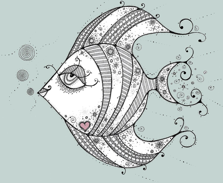 Angel fish drawings - photo#21