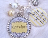 Personalized Mother Grandmother Necklace Bottle cap Jewelry Wedding Anniversary Keychain,Children's Names Necklace, Nana, Mom, Shabby Chic