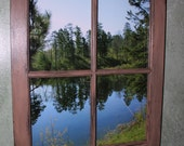 "Recycled Cabin Window ""Mary Lake"""