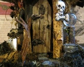 Fairy House, The Village Witch, Dark Magic,  Fairy House Collectible,  Woodland Fairy, Witches, Witch House