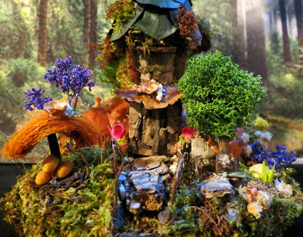 Fairy House Miniature Art Woodland Fairies By