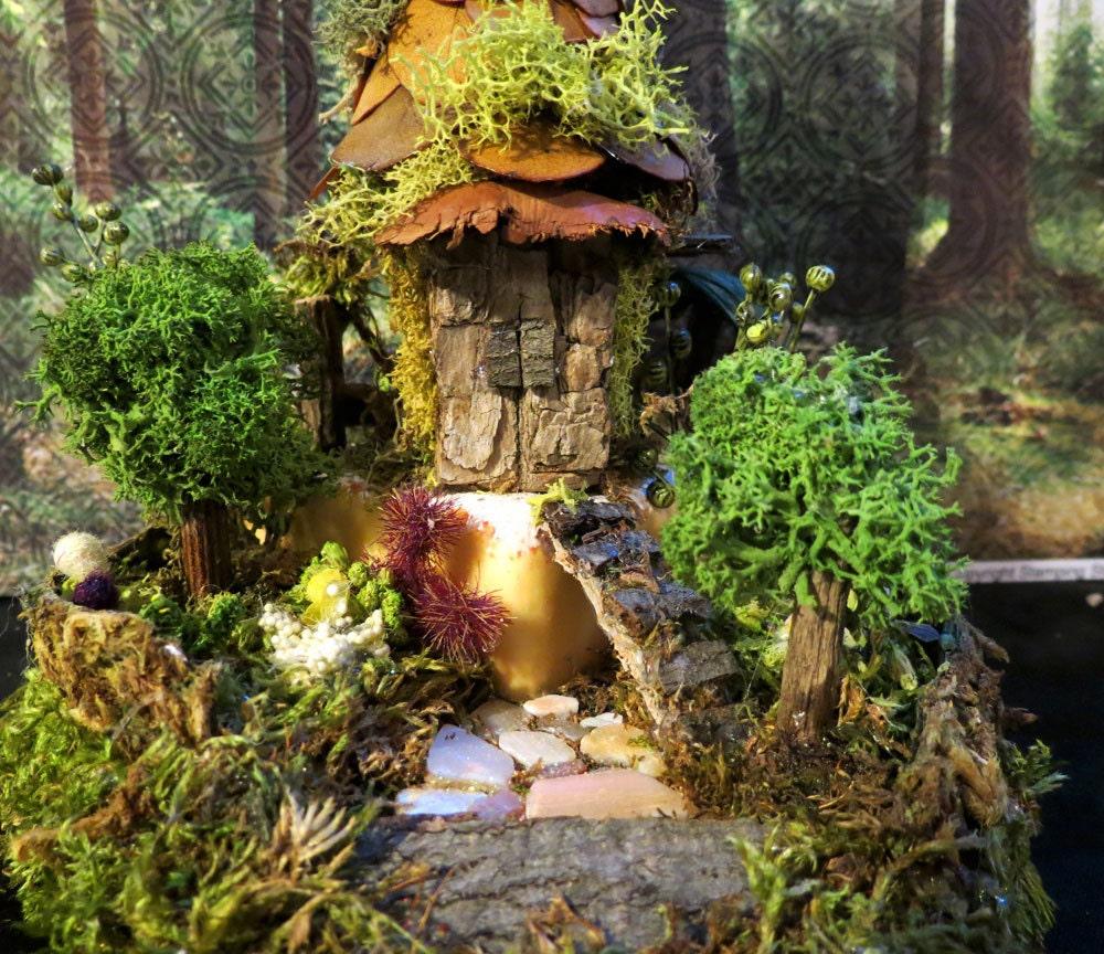 Fairy House Miniature Art Fantasy Cheese By