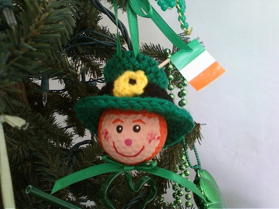 items similar to irish leprechaun golf ball ornament on etsy