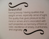 Stationary 'Beautiful' card WHITE card stock