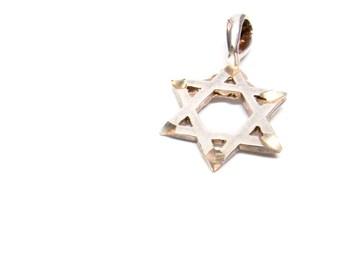 Vintage Jewish Star of David Charm Sterling Silver