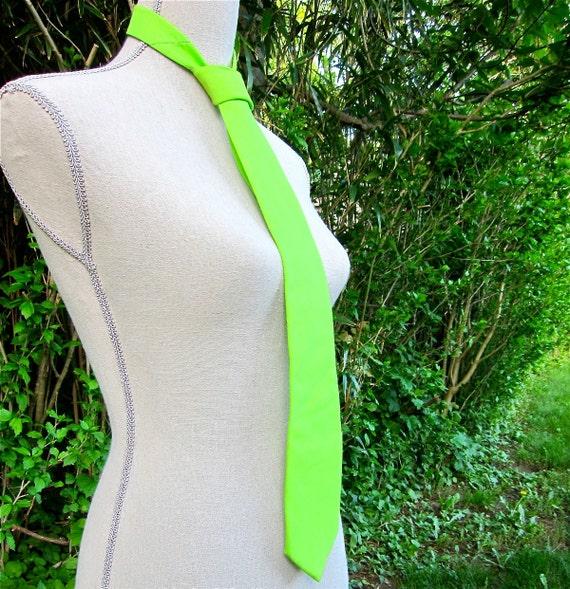 Vintage Tie Lilly Pulitzer Mens Green Necktie Neon 1960's