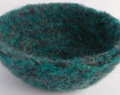Clearance felted bowl dark blue,  charcoal gray
