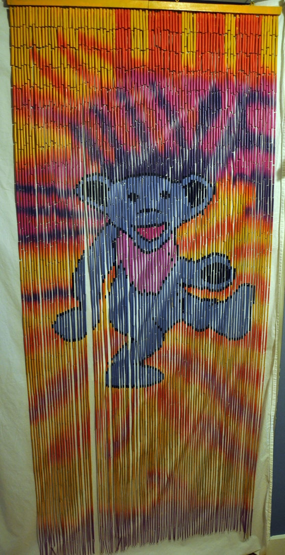 LAST ONE Grateful Dead Dancing Bear Beaded Curtain by RockHoller