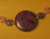 pink and purple hearts necklace