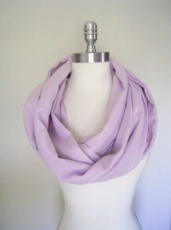 Solid lavender Infinity Scarf in gauze