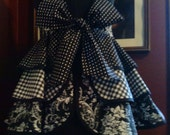 Classic Black & White Ruffle Apron