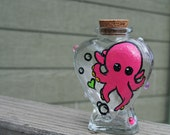 Octopus Glass Stash Jar