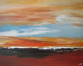 Abstract Minimalist Painting Horizon landscape XL on sale