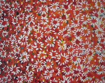 Red Daisies  original Retro pop painting