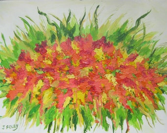 Grace Bouquet Abstract original painting SALE Free Shipping