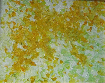 Golden Branches Original Abstract Painting framed