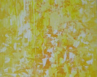 Yellow Abstract Painting XL Sunsnap