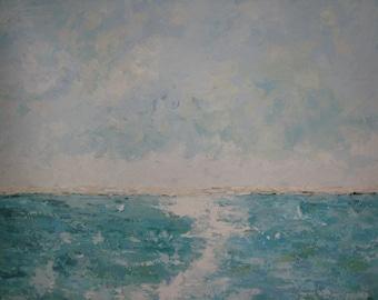 Minimalist  Seascape/ Landscape Painting xl 30x40