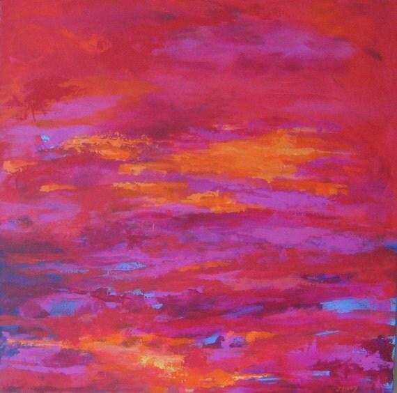 Salsa Sunset Original Abstract Painting xl