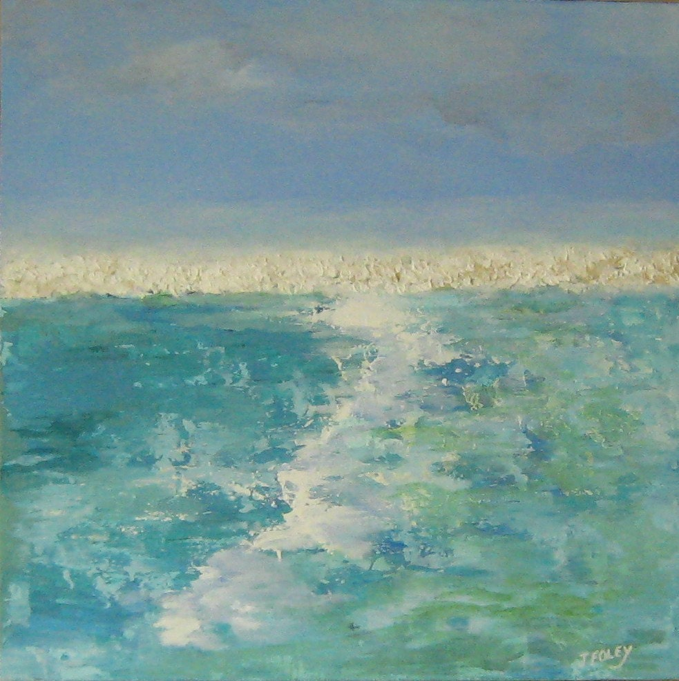 Abstract Ocean Painting original minimalist Surf