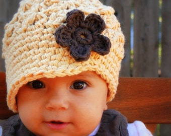 Crochet Baby Hat, kids hat, crochet newsboy hat, hat for girls