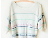 RESERVED FOR SARAH White Knit Top