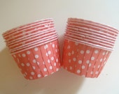 Baby Pink Polka Dot Cupcake Muffin Liners, Candy Cups, Ice Cream cups, Dessert Cups, Nut Cups - 20 Count