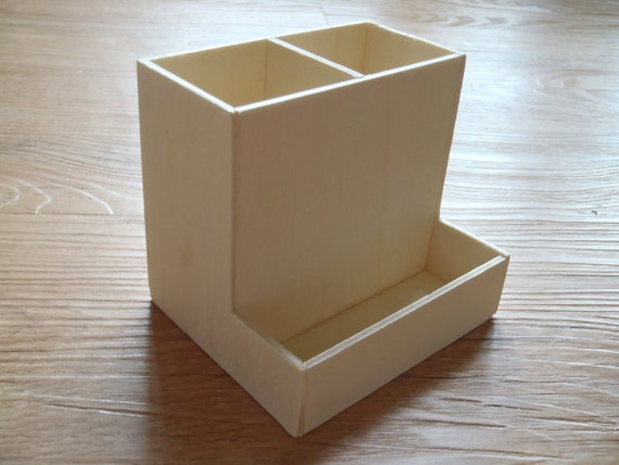 1 wooden diy pen pencil stationery holder desk by nizanra Diy pencil holder for desk