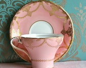 Gorgeous Marie Antoinette Style Vintage Aynsley Teacup And Saucer