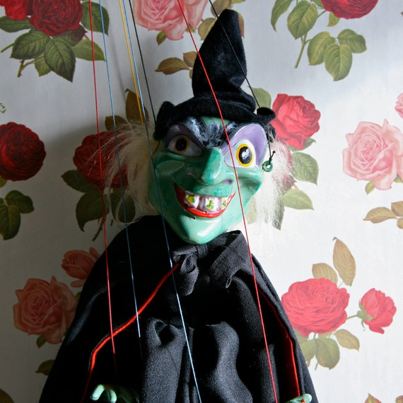 Spooky And Kooky Vintage Pelham Witch Puppet