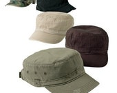 Distressed Military Camo Hat Cap Army - CAN PERSONALIZE