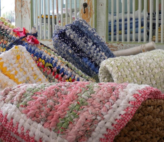 Coiled Rag Rug Instructions: SOLD Make Rag Rugs From Your Fabric SCRAPS Easy By Snipitup
