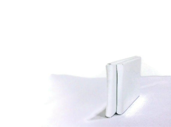White patent leather shoe clips