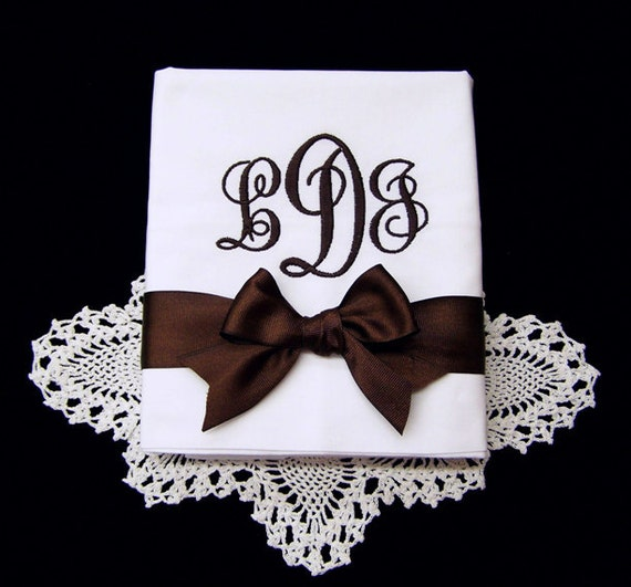 Monogrammed Pillowcases Hemstitched Bridal Wedding Gift