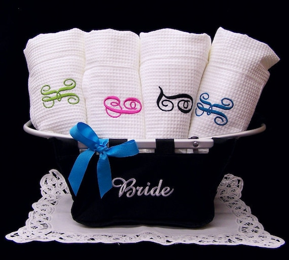 2 Personalized SPA TOWEL WRAP Waffle Weave Monogrammed