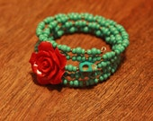 wrap around beaded braclet