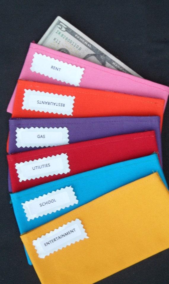 Items similar to 6 Plain Duck Canvas ENVELOPES-pink ...