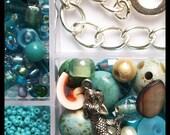 Complete Bead Kit - Make Your Own Jewelry - MERMAIDS TREASURE - Charm Bracelet