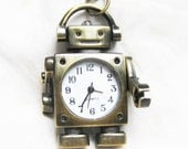 robot pocket watch with the arms can move ( with a little key charm)