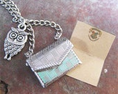 Owl Post Necklace with Hogwarts Letter - Harry Potter----silver