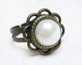 Peeta's Pearl adjustable Ring