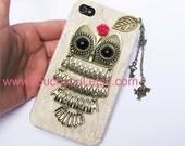 owl,alice rabbit,key,letter,Iphone Case iPhone 4 Case, iphone 4 cover, New Hard Fitted Case For iphone 4 & iphone 4S, Apple iPhone 4 Case