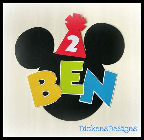 Mickey Mouse Clubhouse Highchair Sign