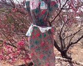 VINTAGE BLONDIE and ME Belted Floral-Print Peplum Dress