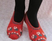 Wonderful Christmas Gift,Hand Knitted Slippers Wool, Christmas ,Gift Ideas