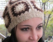 Hat crocheted with beautiful forms