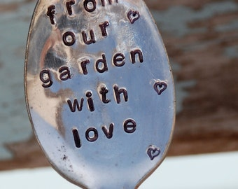 From Our Garden With Love hand stamped Spoon Garden Art