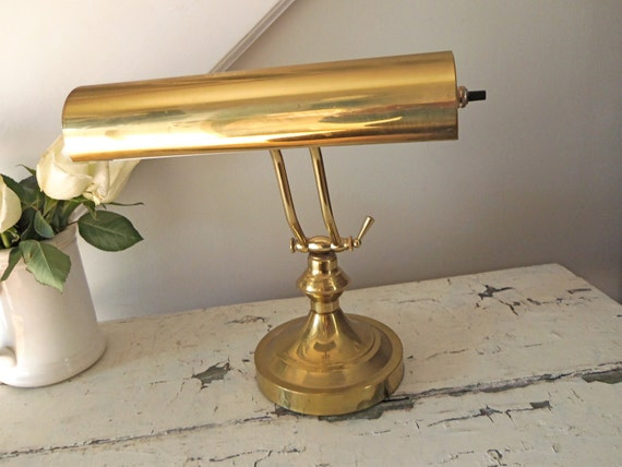 Vintage Desk Lamp Brass Adjustable
