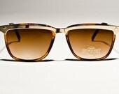 Vintage Gold Brown Bar Sunglasses