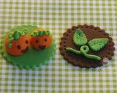 Little Pumpkin Fondant Cupcake Toppers